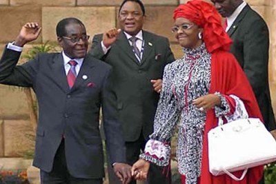 President Robert and Mrs. Grace Mugabe.
