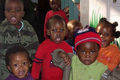 Zimbabwean refugees sheltering in the Central Methodist Church, Johannesburg.