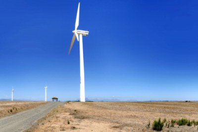 Eskom Generation's pilot wind-farm at Klipheuwel in the Western Cape, South Africa.
