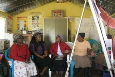 Community group learns about saving in Xaxazana district of Eastern Cape, South Africa