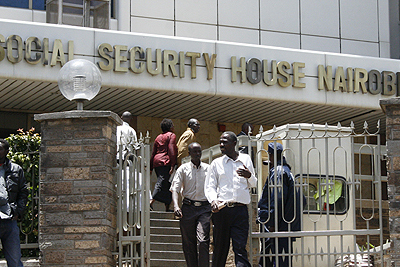 The National Hospital Insurance Fund headquarters in Nairobi.