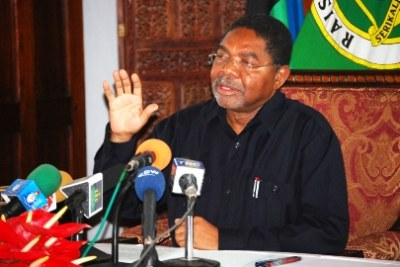 The President of Zanzibar, Dr. Ali Mohamed Shein (file photo).