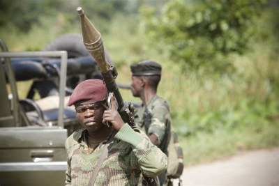 Congolese army soldiers deployed against M23 rebels (file photo).