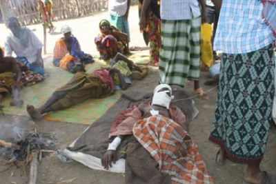 Locals wounded (file photo): Fresh attacks have erupted at Nduru division near Ijara, in Tana Delta.