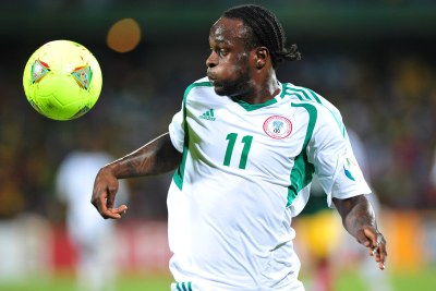 Chelsea's Victor Moses scored both Nigeria's goals off penalties.