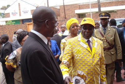 President Robert Mugabe at the National Conference in Gweru 2012