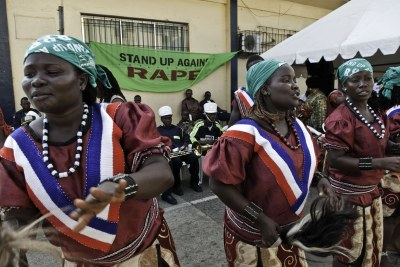 Dancers at the launch of an anti-rape campaign in Monrovia (file photo).
