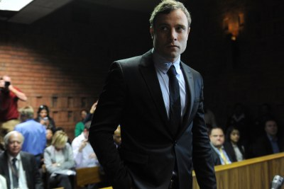 Paralympic champion Oscar Pistorius appears in court (file photo).
