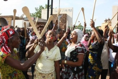 Women manifesting in Ouagadougou (file photo).