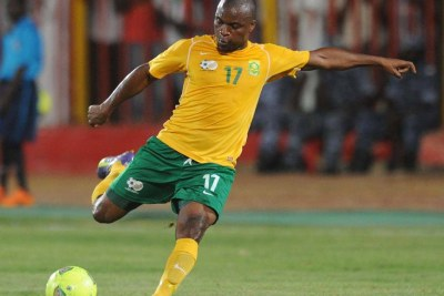 Bafana player Tokelo Rantie scored for the South Africans.