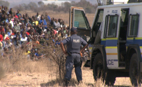 South African Officers in Court for #Marikana Shooting
