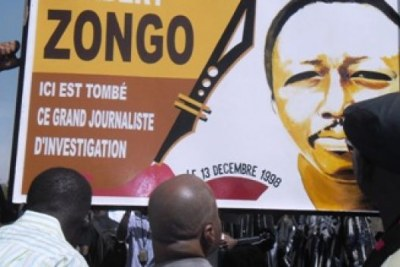 Affiche sur l'assassinat du journaliste Norbert ZONGO