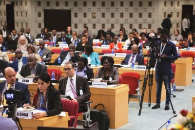 Delegates at the opening session of the meeting of the Committee of Experts, African Development Week