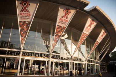 The Inkosi Albert Luthuli International Convention Centre in Durban, venue of the 21st International AIDS Conference.