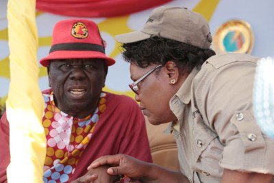Morgan Tsvangirai and Joice Mujuru.