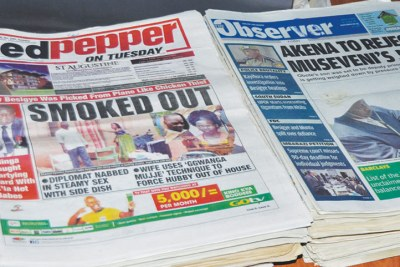 A cross section of newspapers on display (file photo).