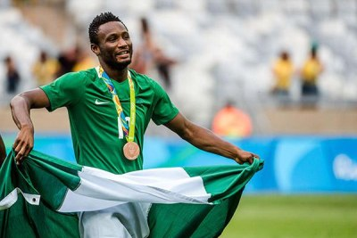 Obi Mikel celebrating