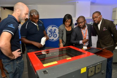The GE Lagos Garage features cutting-edge equipment which includes 3D printers, laser cutters and much more.