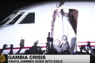 Al Jazeera records the departure of Yahya Jammeh into exile after 22 years in power.