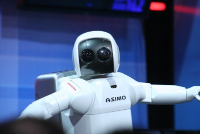 A typical robot example from ASIMO.