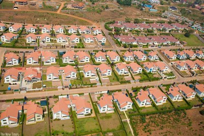 An aerial view of a housing estate in Kibagabaga, Gasabo District. (file photo).