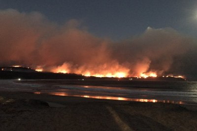 The fire in Knysna, looking from Buffalo Bay towards Brenton (file photo).