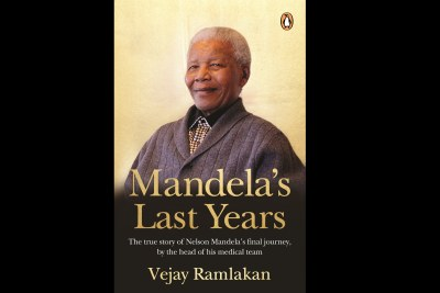 The cover of Mandela's Last Years by the former statesman's doctor Vejay Ramlakan.