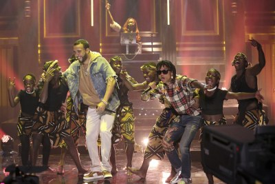 French Montana Performed 'Unforgettable' With Swae Lee & Triplets Ghetto Kids on 'Fallon'