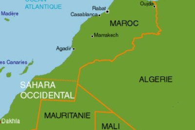 Carte Maroc et Sahara occidental