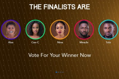 BBNaija - the last five standing.