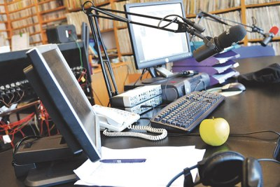 A radio studio (file photo).