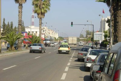 An avenue in the city of Settat in central Morocco.