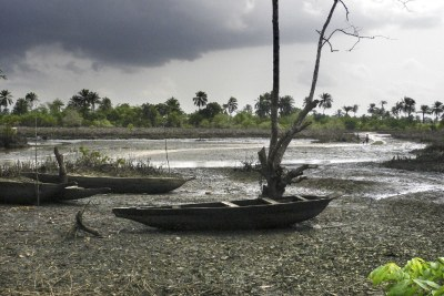 Shell oil spill at Goi, Ogoni Land, Niger Delta (file photo).