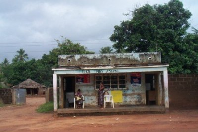 A shop in Mozambique.