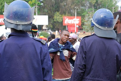Zimbabwe's Riot police.