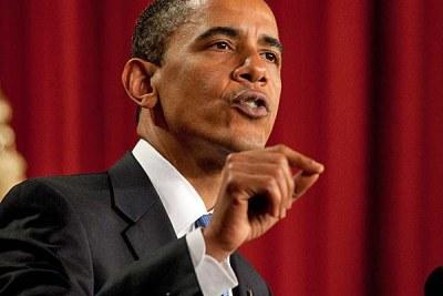 Obama speaks at Cairo University.