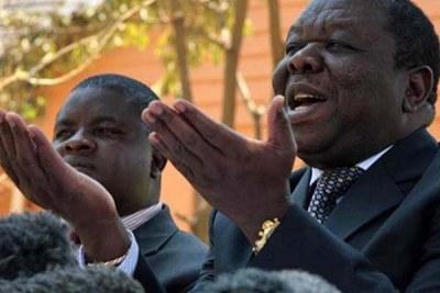 Zimbabwe prime minister designate Morgan Tsvangirai.