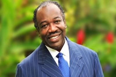 Ali Bongo Ondimba Président de la République du Gabon.
