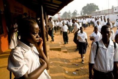 A community school in Monrovia.
