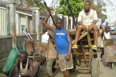 Unemployed youths in Freetown (file photo).