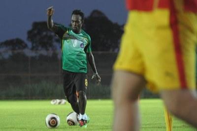 Le ghanéen Michael Essien lors d'une séance d'entrainement