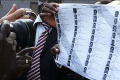 Provisional voters list.