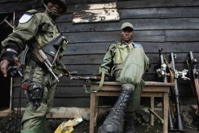 Des soldats congolais.
