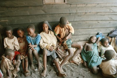 Rwandan children, refugees of the genocide (file photo).