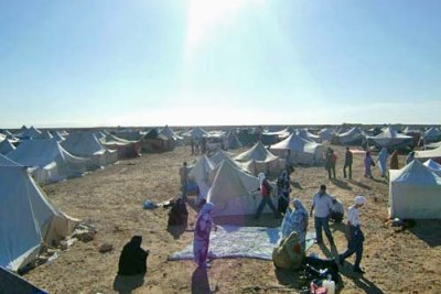 In protest against their plight, hundreds of Saharawi in the occupied territories have left their homes in the cities to live in tents in the desert.