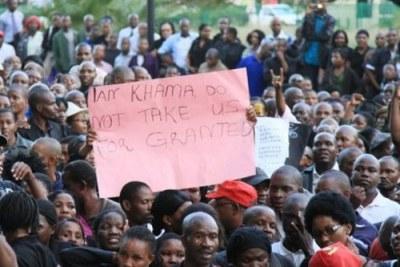 Botswana's civil servants demanded a 16 percent pay rise.