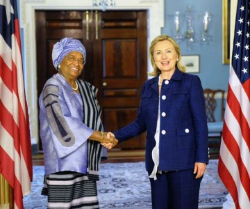 Liberian President Ellen Johnson Sirleaf Visits Washington DC