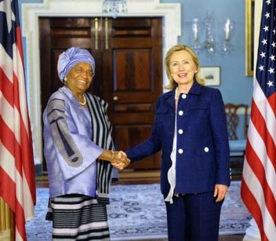 Liberian President Ellen Johnson Sirleaf Visits Washington DC