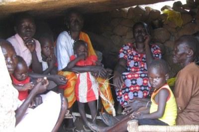Une famille de réfugiée