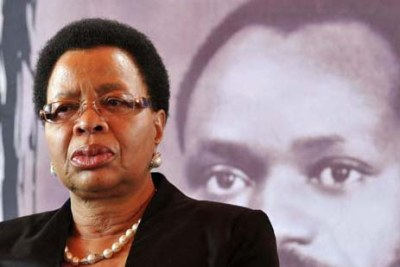 Graca Machel during the commemoration of the 25th anniversary of the Samora Machel tragedy held at Mbuzini in Mpumalanga.